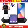 4in1 Fast Charging Dock Charger Stand fit Apple Watch /Air-Pods/iPhone /Android