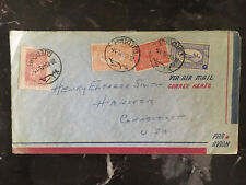 1954 Jeddah Saudi Arabia Airmail cover to Hanover CT USA