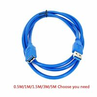 USB Extension Cable 5Gbps USB 2.0 3.0 Male to Female Data Sync Extender Cable