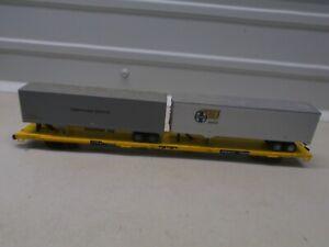 ATHEARN~ TRAILER TRAIN~FLAT CAR #473680~ W/2 TRAILERS~HO SCALE