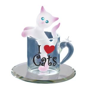 Glass Baron Kitty Cup Figurine