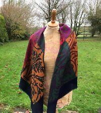 Large square colourful Italian scarf / shawl / wrap