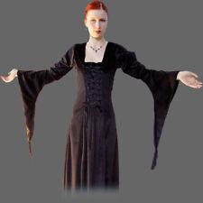 Mittelalterkleid, XS-XXXL Kleid schwarz Samtkleid Mittelalter Gewand Kostüm Larp
