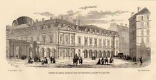 PARIS THEATRE DE L OPERA THEATER PALAIS ROYAL GRAVURE 1878 ENGRAVING
