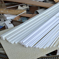 60 pcs Assorted size Styrene ABS pole, Rod, Pipes and Square Sections 500mm x 60