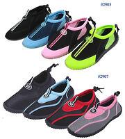 New Womens Slip on Water Shoes/Aqua Socks/Pool  Beach Yoga Dance Exercise,Colors