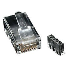 Enchufe de crimpado RJ45 Cat6a Enchufe 50u blindado con barra de carga para STP Cable! paquete de 50