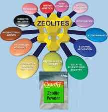 Bolsa de 400g de polvo micronizado Zeolita Clinoptilolita mineral desintoxicación de curación natural