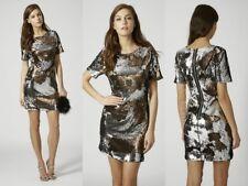 Topshop Two Tone Sequin Party Dress Size UK 8 EUR 36