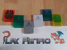 PLAY STATION PS1 PSX MEMORY CARD OFICIAL BUEN ESTADO FUNCIONANDO COLOR A ELEGIR