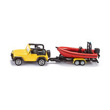 Siku 1658 Jeep Wrangler with Boat Yellow (Blister Pack) New! °