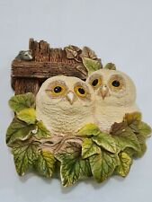 More details for legend products chalkware  tawny owlets ornament bird hanging  (like bossons)