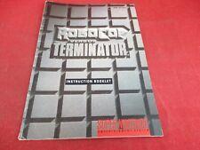 Robocop Versus The Terminator Super Nintendo SNES Instruction Manual Booklet