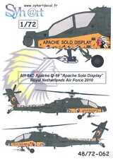 """Syhart Decals 1/72 AH-64D APACHE """"Apache Solo Display"""" Netherlands AF 2010"""