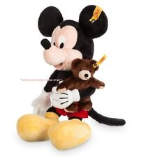 Disney Parks Mickey Mouse with Teddy Bear Plush by Steiff 6 1/4'' (NEW)