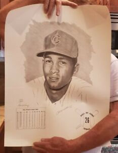 BILLY WILLIAMS SIGNED DAVID A COONEY LITHOGRAPH 720/1000