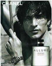 PUBLICITE ADVERTISING 095  2005  CHANEL  parfum homme ALLURE SPORT