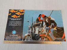 BROCHURE DEPLIANT ORIGINALE PIAGGIO BRAVO 50 1973