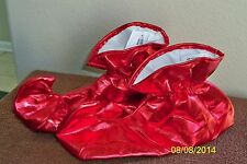 ADULT LEPRECH ELF JESTER MARDI GRAS RED CLOTH SHOES COVERS COSTUME FM51490