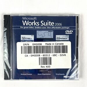 Microsoft Works Suite 2006 Software on DVD SEALED Personal Finance Encyclopedia
