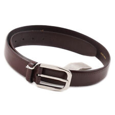 New $575 BRIONI Burgundy Calf Leather Belt with Punched Detail 36 W (Eu 95)