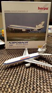 Herpa DC-10-40F Aeroflot cargo scale 1 400