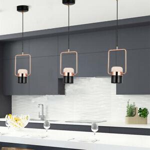 3X Black Pendant Light Kitchen Chandelier Lighting LED Lamp Shop Ceiling Lights