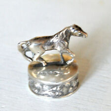 Pommeau de canne Cheval ARGENT SILVER 92 - Bouchon Sculpture équestre Equitation