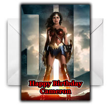WONDER WOMAN Personalised Birthday / Christmas / Card - Large A5