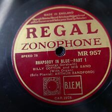 78 rpm BILLY COTTON BAND rhapsody in blue NR 957