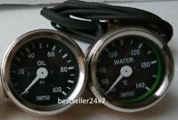 "Smiths Replica 52 mm 2 1/16"" Gauges Kit - Temp + Oil pressure gauge"