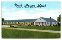 1950s West Haven Motel near Oberlin College, OH Postcard *243