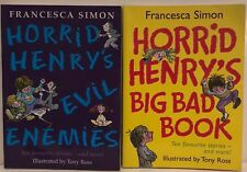 Horrid Henry's Evil Enemies and Big Bad Book p/bs Orion 20 stories vgc