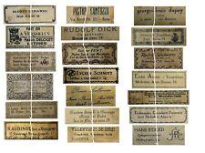 V118 Old Vintage Antique Violin Fiddle Maker Set of 20 Labels NICE!