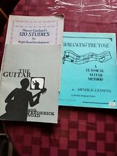 CLASSICAL GUITAR INSTRUCTION BOOKS COLLECTION 3 BOOKS. FREDERICK NOAD ETC