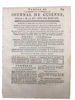 Commerce à Bordeaux en 1788 Camponac Pessac Lavignien Île Dieu Île aux Moines