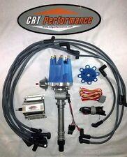 SMALL CAP CHEVY CORVETTE V8 TACH DRIVE HEI DISTRIBUTOR + 60K COIL + PLUG WIRES