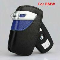 Sport Line Genuine Leather Key Case Bag FOB Holder For BMW 2 3 5 Series X3 -Blue