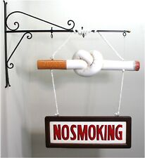 "Old Fashioned Vintage twisted ""NO SMOKING"" cigarette Sign Cigar Store FUN"