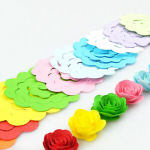 20pcs 10 Color Rose Quilling Paper Mixed Color Origami Paper Decor Supply O8H7