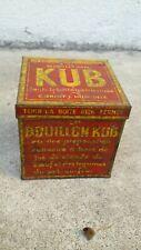 Ancienne  BOITE en métal  BOUILLON  KUB