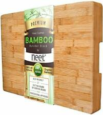 Bamboo Cutting Chopping Board Kitchen Durable Organic Butcher Block Thick Ex LG