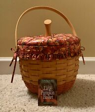 Longaberger 1997 Large Pumpkin Basket Combo with Padded Lid, Protector