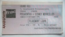 POCAHONTAS USED SPECTACLE TICKET / BILLET / PLACE BALCON - 1993 THEATRE MOGADOR