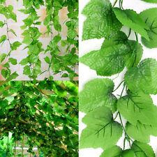 82ft Artificial grape Ivy vine faux Leaf Garland Plants Fake Foliage green Décor