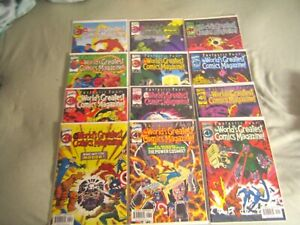 12 MARVEL COMICS FANTASTIC FOUR THE WORLD GREATEST COMICS MAGAZINE COMPLETE SET