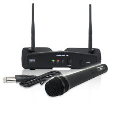 Proel WM202M-F2 Professional Wireless Microphone PA Karaoke Receiver Set System