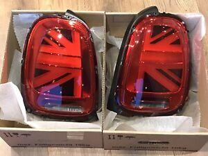 Pair Genuine Mini Tail Lights Union Jack F55 F56 F57 UK LED Set Cooper S JCW