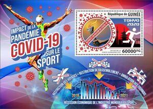 Guinea Medical Stamps 2021 MNH Corona Sports Impact Tokyo 2020 Olympics 1v S/S