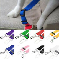 Adjustable Pet Cat Dog Vehicle Car Seat Belt Seatbelt Harness Lead Clip Safety D